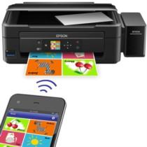 爱普生 L455 墨仓式 智能无线打印机一体机(打印 复印 扫描 云打印 无线直连)