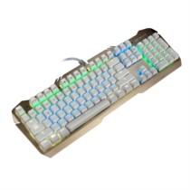 狼派 X06 虚空风暴机械键盘104键 背光红轴土豪金混彩版金属游戏键盘