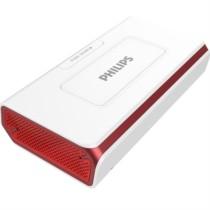飞利浦 DLP8082 商务精英 无线蓝牙音箱/插卡音箱/车载音响 电话会议扬声器/免提通话/移动电源 红色