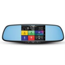 美伴 行车记录仪 高清广角夜视电子狗导航GPS一体机 前后双录倒车影像智能语音后视镜意镜M2 比亚迪全系