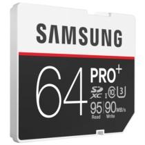 三星 64GB UHS-1 Grade 3(U3) Class10 SD存储卡(读速95MB/s)专业版+