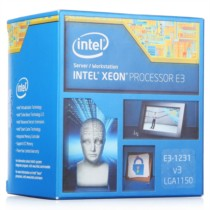 Intel  至强四核E3-1231V3 盒装CPU (LGA1150/3.40GHz/8M/22纳米)