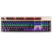赛德斯 烽影 有线彩虹背光金属游戏外设机械键盘茶轴(黑色混光)