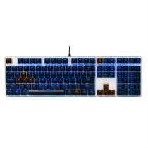 达尔优 机械师合金版 108键背光机械键盘 黑轴 黑银色