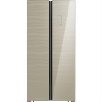 美的 BCD-450WKGZM(E) 450升 风冷无霜 对开门冰箱 智能操控 电脑控温 玻璃面板 节能静音(塞纳星河)