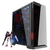 爱国者 炫影 黑色 分体式机箱(支持ATX主板/钢化玻璃面板/USB3.0/HD音频/大侧透/支持背线)