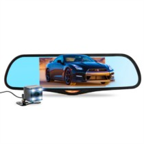 凌度 HS995C 行车记录仪 7.0大屏倒车影像 后视镜 前后双录