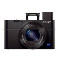 索尼 DSC-RX100 M3 黑卡 RX100 Ⅲ 数码相机 黑色(2010万像素 3英寸液晶屏 2.9倍光学变焦 Wifi传输)