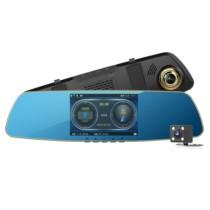 任e行 D3-LD 双镜头行车记录仪高清1080P后视镜倒车影像二合一测速一体机