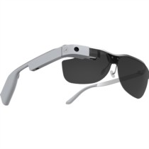 酷镜(Cool Glass) ONE智能眼镜 语音手触AR增强现实功能 通讯拍照导航即时分享视频直播  钛合金镜架 奢华灰