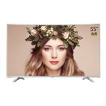 海尔 模卡 (MOOKA)U55Q81J 55英寸4K曲面高清智能液晶平板电视(银色)