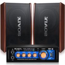 索爱 KTV音响套装6 (M7+2000)家庭ktv音箱套装(专业卡拉OK点歌音响会议设备卡包音箱家庭影院)