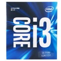 Intel 酷睿双核I3-7100 盒装CPU处理器