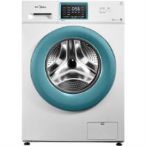 美的 MG70V30WDX 7公斤智能变频滚筒洗衣机 时尚薄荷蓝门圈 除菌洗