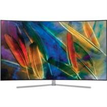 三星 QA55Q7CAMJXXZ 55英寸 曲面Q系列 光质量子点 HDR1500 四面超窄边框 隐形线缆 智能电视 银色