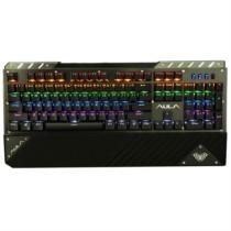 狼蛛 F2030追击者混光机械键盘104键有线USB游戏键盘 机械青轴 枪色版