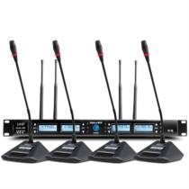 新科 H85 一拖四无线会议话筒 培训演讲主持专业鹅颈无线麦克风