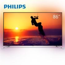飞利浦 86PUF8502/T3 86英寸 大屏高享受 3边流光溢彩 HDR 4K超高清智能网络液晶平板电视(银色)