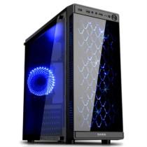 先马 焦点3 台式电脑机箱 玻璃面板/侧透/标配3把散热风扇/支持ATX主板 长显卡 高CPU散热器 背线