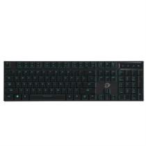 达尔优 EK820 超薄104键游戏背光办公机械键盘 巧克力黑轴