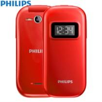 飞利浦 E321 中国红 移动联通2G老人手机 双卡双待