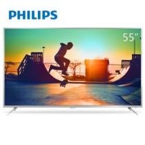 飞利浦 55PUF6392/T3 55英寸 64位十核HDR金属边框4K超高清智能网络液晶平板电视(银色)