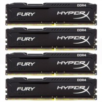 金士顿  骇客神条 Fury系列 DDR4 2133 32GB(8GBx4)台式机内存