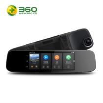 360 行车记录仪智能后视镜导航云镜 S650 前后双录高清夜视倒车影像 语音操控导航测速 黑色