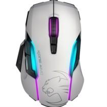 冰豹 德国 (ROCCAT) 魔幻 Kone AIMO 艾摩 RGBA灯光效果 游戏鼠标 (白) 绝地求生鼠标 吃鸡鼠标