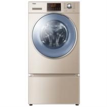 海尔 XQGH100-HB12858GU1  10公斤复式变频洗烘一体滚筒洗衣机  蒸汽防皱烘干 复式结构 洗衣不弯腰