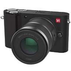 小蚁 微单相机双镜套装黑色 型号M1 双镜头12-40mmF3.5-5.6, 42.5mmF1