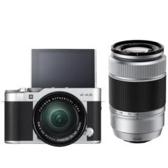 富士 X-A3 (XC16-50II/XC50-230II) 银黑色 微单电双镜头套机 2420万