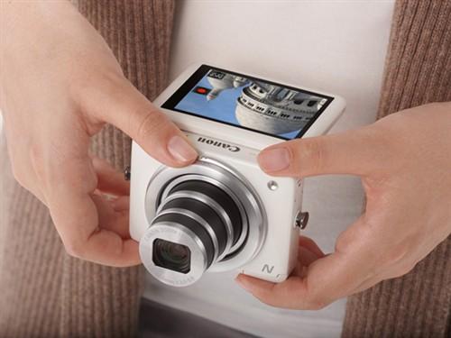 佳能 佳能 PowerShot N 数码相机 白色(1210万像素 2.8英寸上翻式触摸屏 8倍光学变焦 WiFi传输) 图片
