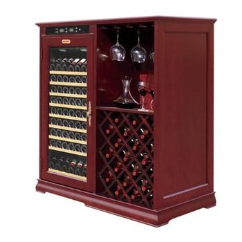 sth-k80a 欧式实木恒温红酒柜 压缩机酒柜 展示架带挂杯需订做