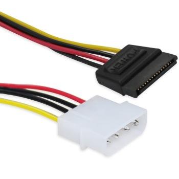 d型4针转sata串口硬盘/光驱电源线