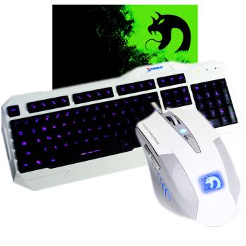 新盟 新盟曼巴蛇 背光有线键鼠套装 发光夜光usb有线键盘鼠标套装 lol