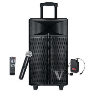现代v1-12 广场舞音响 12英寸大功率户外便携拉杆音箱