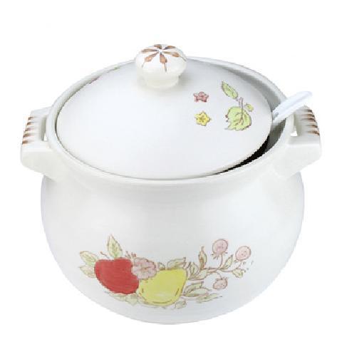 5000ml/5升釉下手绘陶瓷汤煲 煲汤砂锅炖锅沙锅瓦煲汤锅煲类产品图片4
