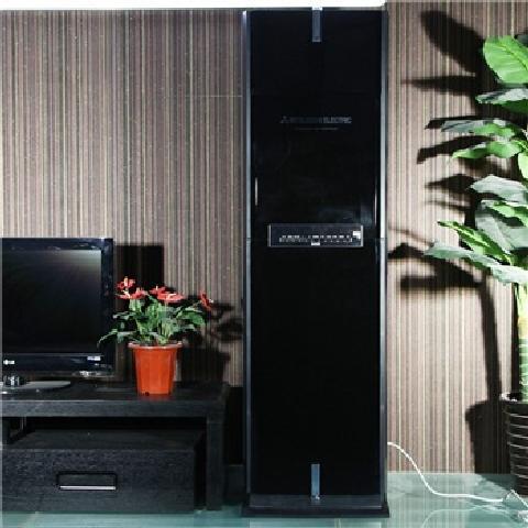 三菱mfz-pxe72va(kfr-72lw/bpg) 3匹 立柜式冷暖变频空调(黑色)空调