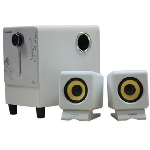 1聲道/4英寸倒相式超重低音單元設計 白色音箱產品圖片3