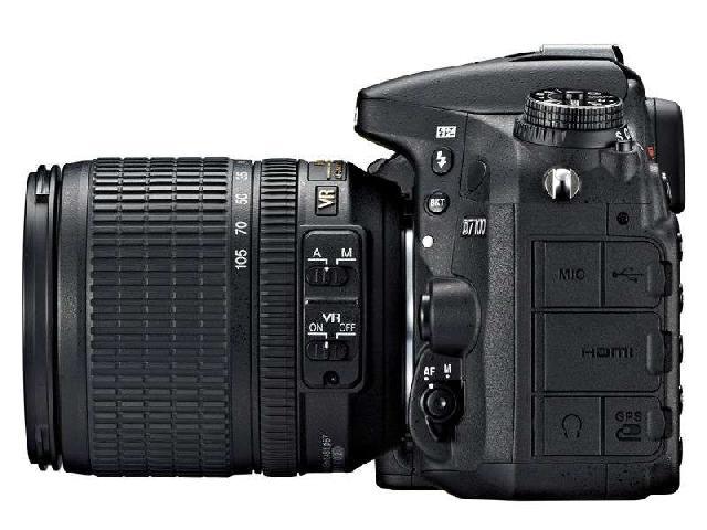 尼康D7100 单反机身(中高级单反 2410万像素 3.2英寸液晶屏 连拍6张/秒)整体外观图图片8