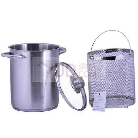 18-10不锈钢复底竖桶蒸锅