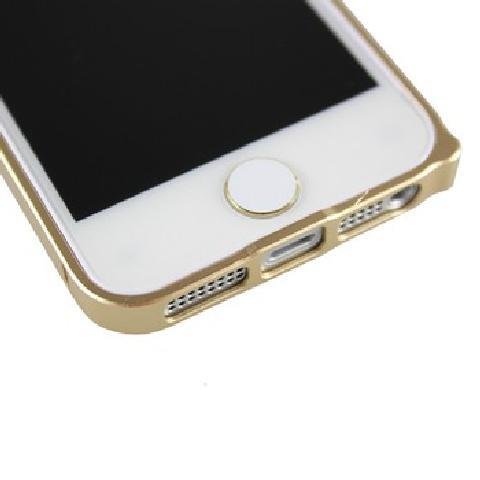 Capshi苹果home贴 金属烤漆按键贴 适用于苹果iPhone ipad系列产品 白底金边 平板电脑配件产品图片1