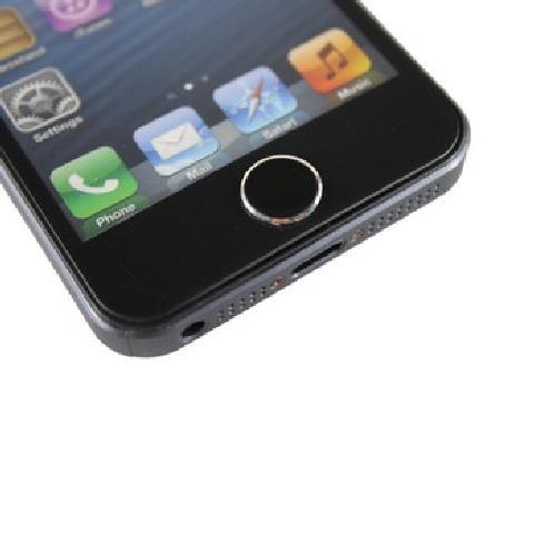 Capshi苹果home贴 金属烤漆按键贴 适用于苹果iPhone ipad系列产品 黑底银边 平板电脑配件产品图片1