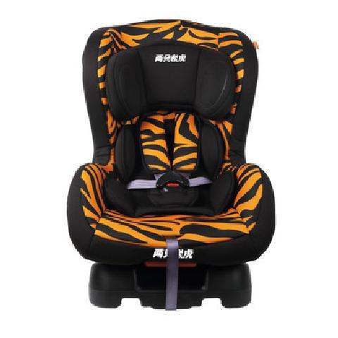 两只老虎汽车儿童安全座椅 适合0 4岁 约0 18KG 佼佼虎 虎纹儿童安全