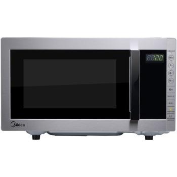 美的M5 231A银色 微波炉 速热技术 湿度感应 烧烤解冻微波炉产品图片1