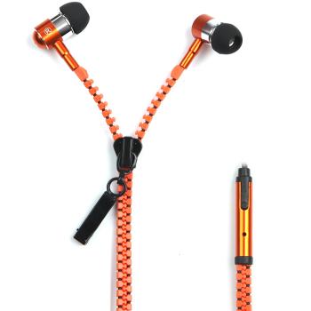 品迪手机耳机耳机入耳式小米华为手机耳机线控耳机线拉链式 适用于苹