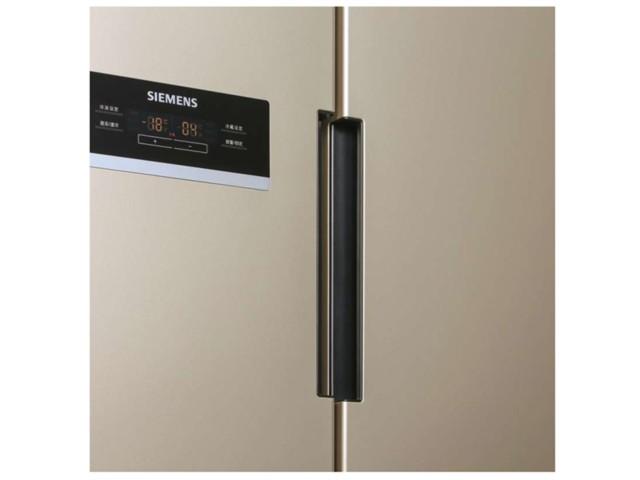 西门子BCD-610W(KA92NV03TI)冰箱 610升L变频 对开门冰箱(浅金色)冰箱产品图片3