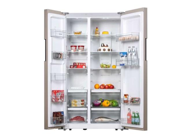 西门子BCD-610W(KA92NV03TI)冰箱 610升L变频 对开门冰箱(浅金色)冰箱产品图片5