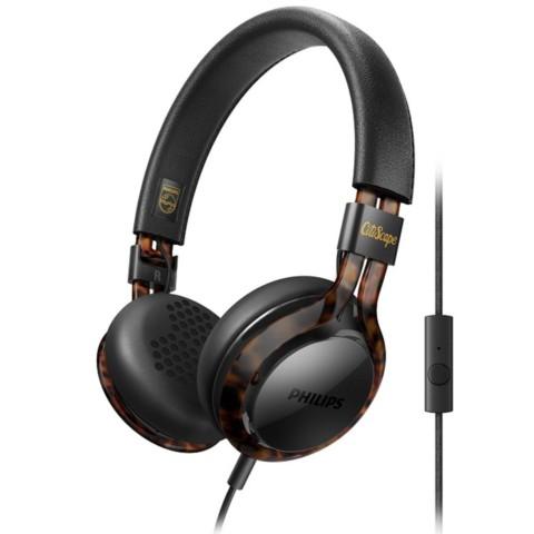 飞利浦SHL5705BKP 00 Frames 玩酷系列 可折叠 高精准声音 卓越隔音效果 玳瑁黄 耳机产品图片1